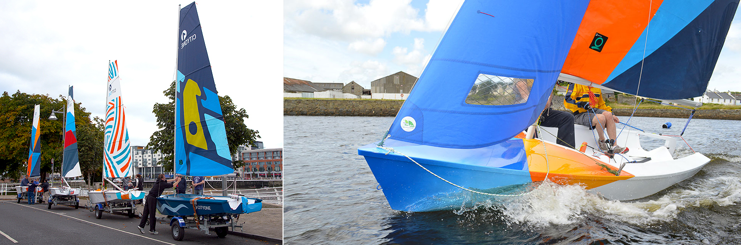 CityOne racing dinghy built at Ilen School Limerick Ireland