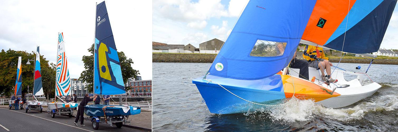 CityOne racing dinghy built at Ilen School Limerick Ireland