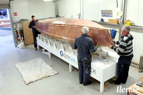 First CityOne dinghy emerges from its strongback