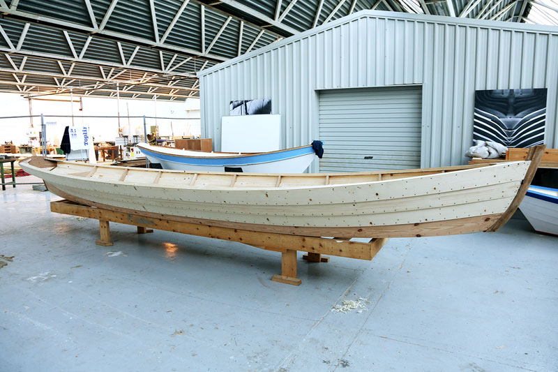 Profile of 23' Gandelow, ready for paint