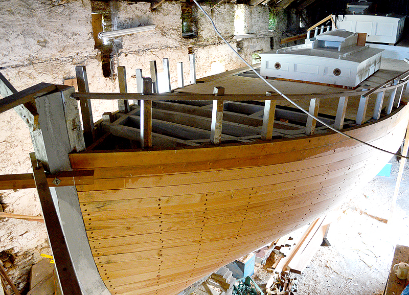 Re-build of Sailing Ketch Ilen Ilen School Limerick Ireland