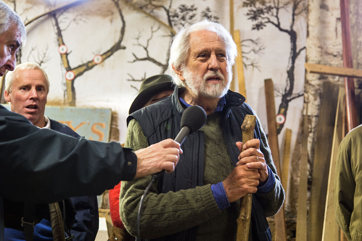 Lord David Puttnam gives the keynote talk at Ilen's decking-out ceremony