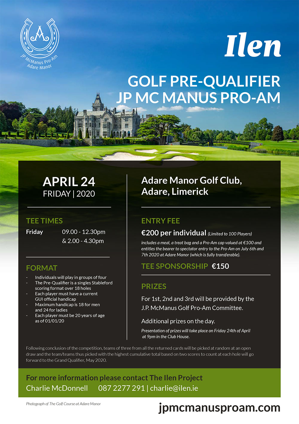 JP McManus, ProA, ProAM, pre qualifier, golf, Adare manor, 2020, Ilen Project, Ilen, Gary MacMahon,